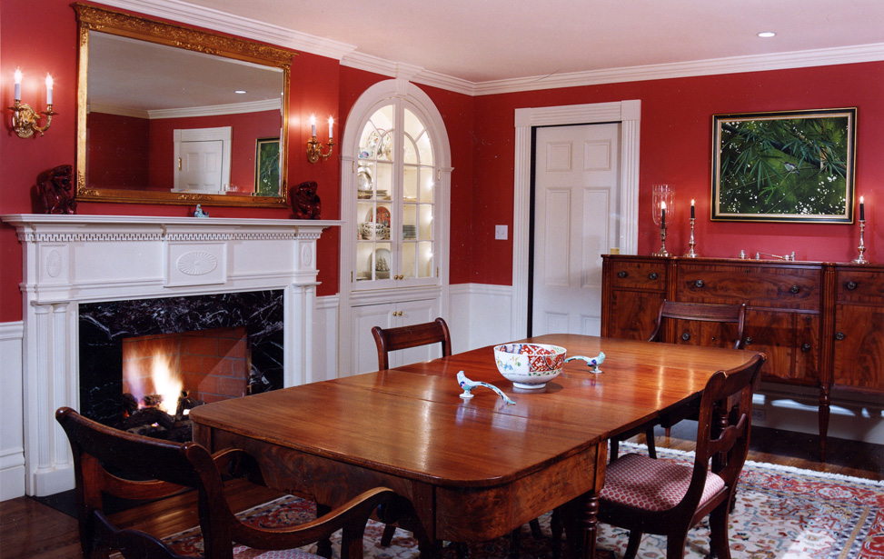 MF Reynolds Beacon Hill Federal period dining room renovation