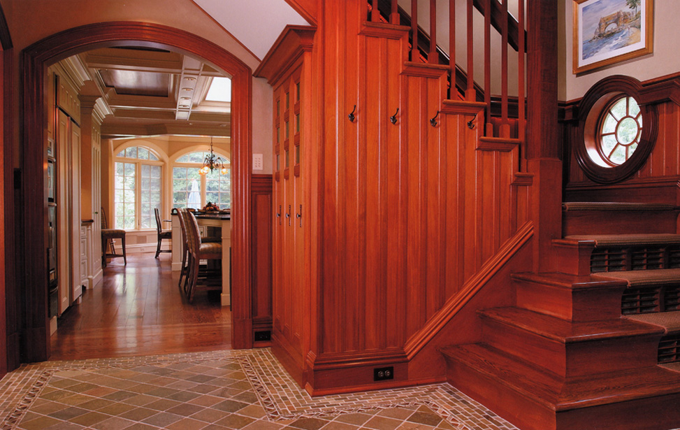 Interior staircase woodwork